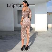Платье женское с бахромой и открытыми плечами