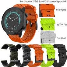 Pulseira de relógio de silicone para suunto 7/9 spartan esporte pulso hr baro pulseira relógio inteligente 24mm substituição acessórios cinta de pulso