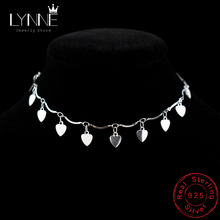 New Arrival Bohemia 925 Sterling Silver Heart Pandent Anklets Bracelets Beach Anklet On Leg Chain For Women&Girl Jewelry Gift