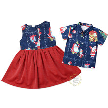 1-6Years Toddler Kid Girls Christmas Red Dress Cartoon Santa Claus Sleeveless Tutu Party Xmas Girl Clothes Costumes