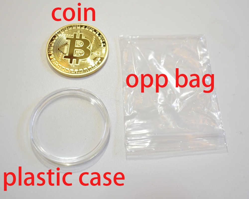 Позолоченный Биткоин Бит монета пульсация Litecoin эфириум коллекция подарок 40 мм криптовалюта металлическая монета памятная монета