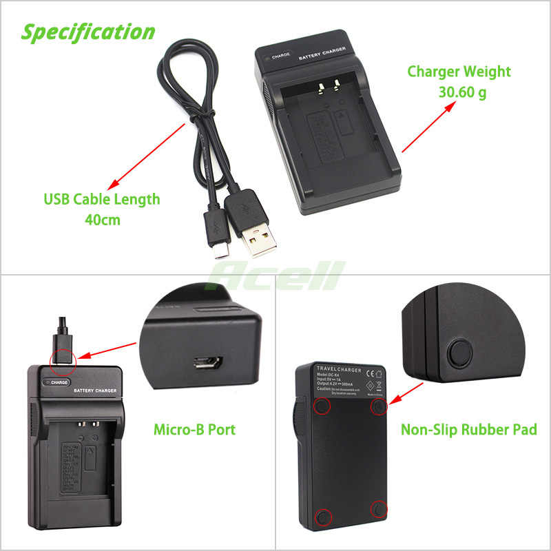 Micro USB cable for Canon BP-709 BP-718 BP-727 BP-745 and LEGRIA ...