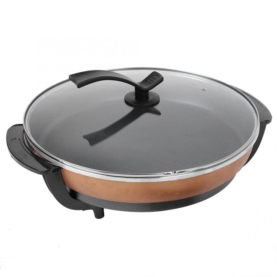 1500W Multifunctional Non-stick Frying Pizza Pan Electric Heating Skillet With Lid