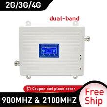 4g tekrarlayıcı 900 2100 mhz 2G 3G 4G çift bant sinyal güçlendirici GSM WCDMA LTE DCS 4G cep telefonu sinyal tekrarlayıcı hücresel amplifikatör