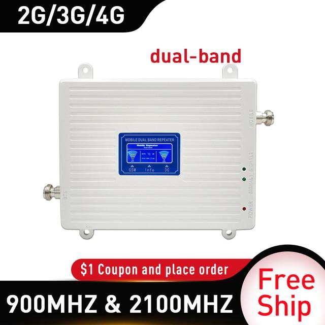 Répéteur 4g 900 2100 mhz 2G 3G 4G amplificateur de Signal double bande GSM WCDMA LTE DCS 4G répéteur de Signal de téléphone portable amplificateur cellulaire