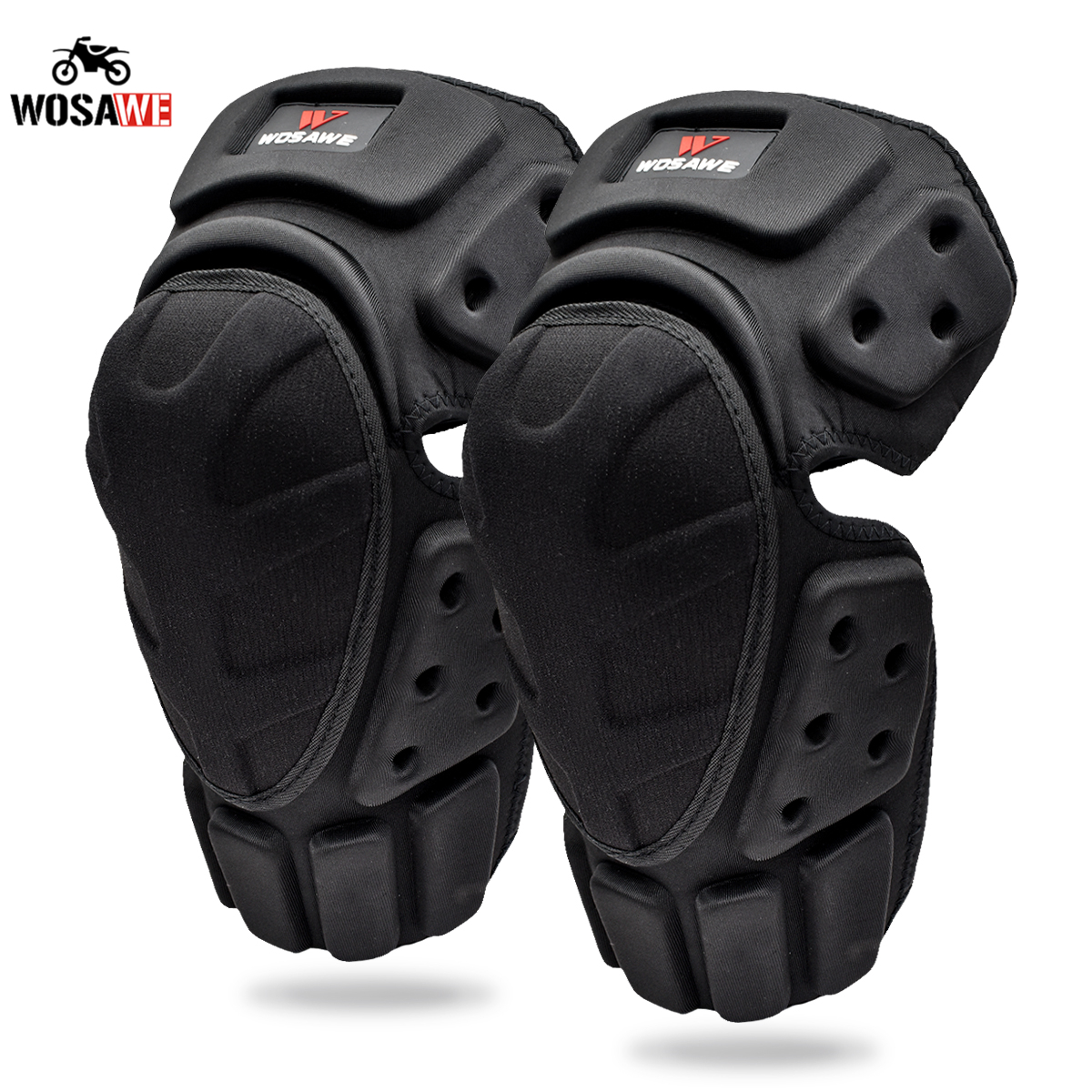 WOSAWE Motorcycle Knee Pads Motocross Knee Protection Moto Racing Protective Guard Gear Motorbike Knee Protector MTB Knee