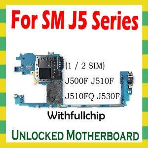 Image 2 - Oryginalna płyta główna dla Samsung Galaxy J5 J500F J510F J530F odblokowana płyta główna W/pełne chipy System Android odblokuj Logic Board