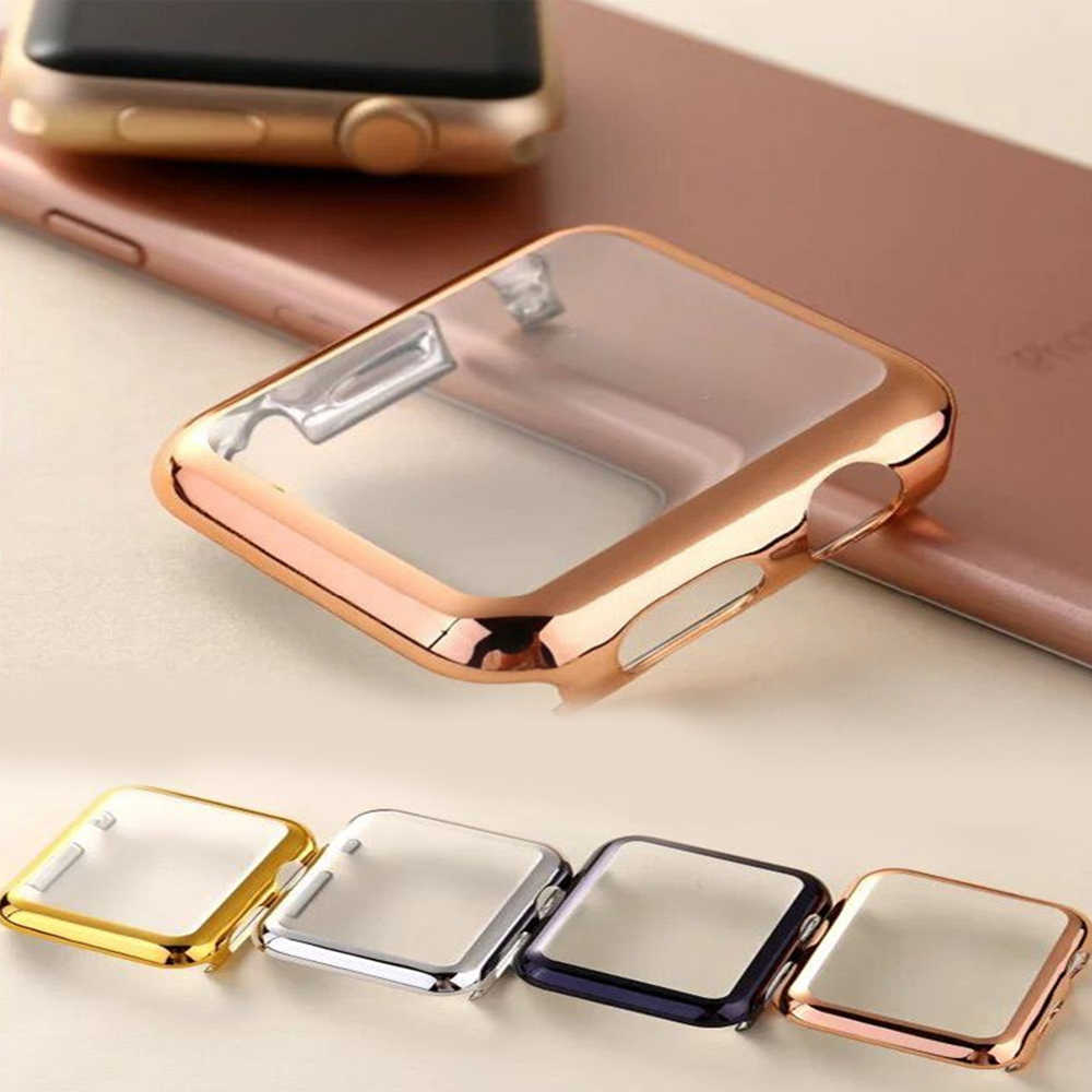 Case untuk Apple Watch Band Apple Watch 5 4 3 44 Mm 40 Mm 42 Mm 38 Mm IWatch Kasus Correa IWatch 5 4 3 2 Cover Apple Watch Aksesoris