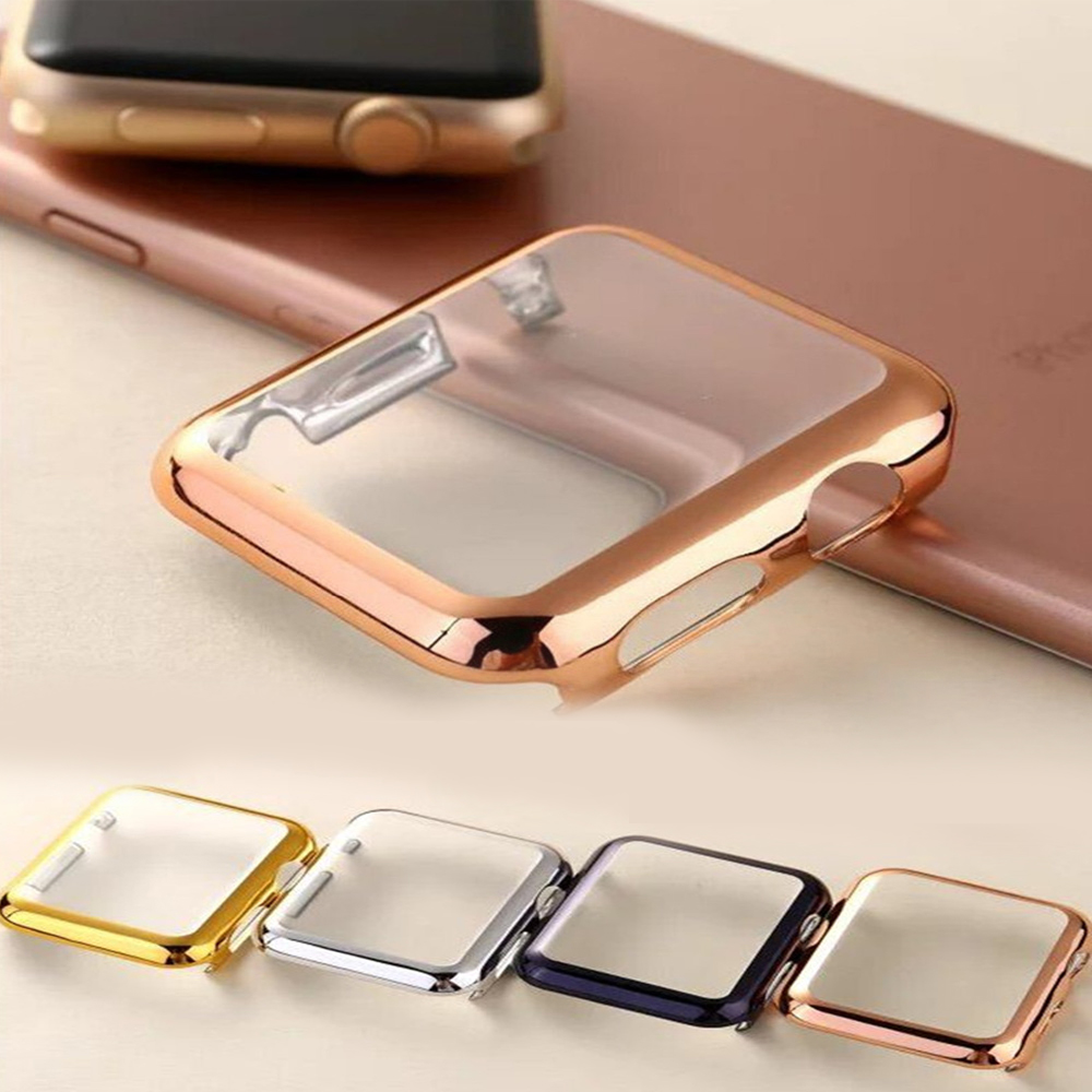 Case For Apple Watch Band Apple Watch 5 4 3 44mm 40mm 42mm 38mm Iwatch Case  Correa Iwatch 5 4 3 2 Cover Apple Watch Accessories