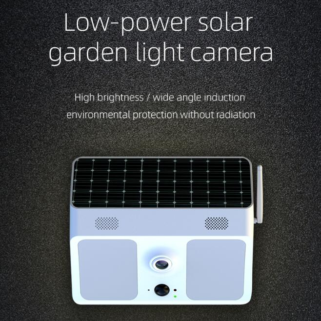 1080P HD LED Wifi Outdoor Courtyard Garden Front Back Door Solar Energy Low Power Camera Wireless Surveillance App Control
