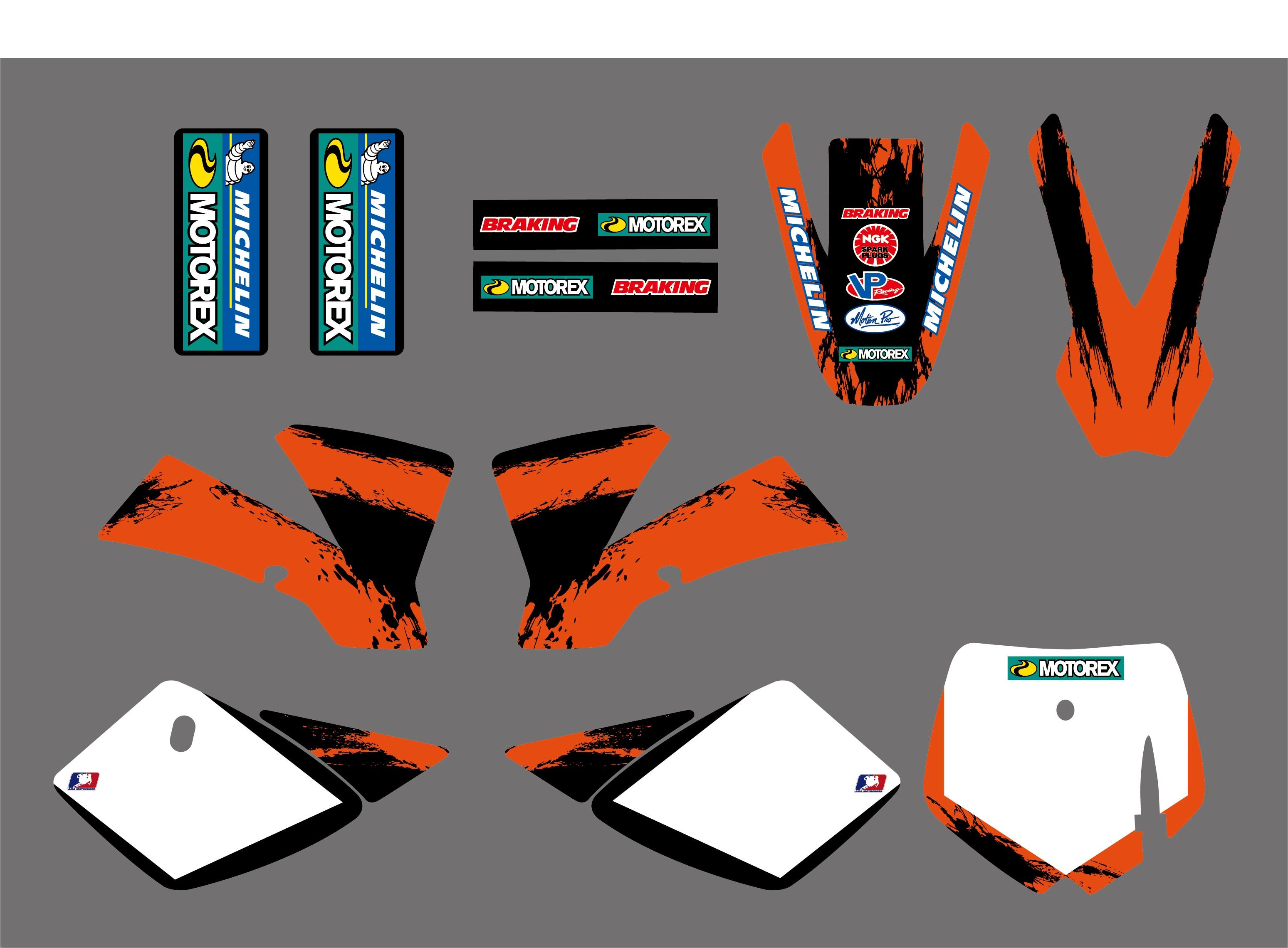 0251 новые стильные наклейки Team Fulle, графические наборы для KTM SX 50 SX50 2002 - 2008 2007 2006 2005 2004 2003