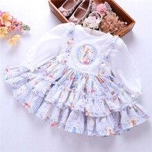 Bahar bebek kız elbiseleri rufles uzun kollu ispanyolca vintage lolita tavşan bunny çocuk kıyafet çocuk giyim butik