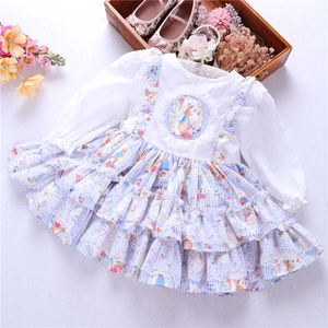 Image 1 - spring baby girls dresses rufles long sleeve spanish vintage lolita rabbit bunny kids outfit childrens clothing boutiques