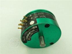 [[BELLA] Archivio greenpot CPP-45B-4 CPP-45B 10K doppio albero potenziometro in plastica conduttiva rubinetto 7 pins