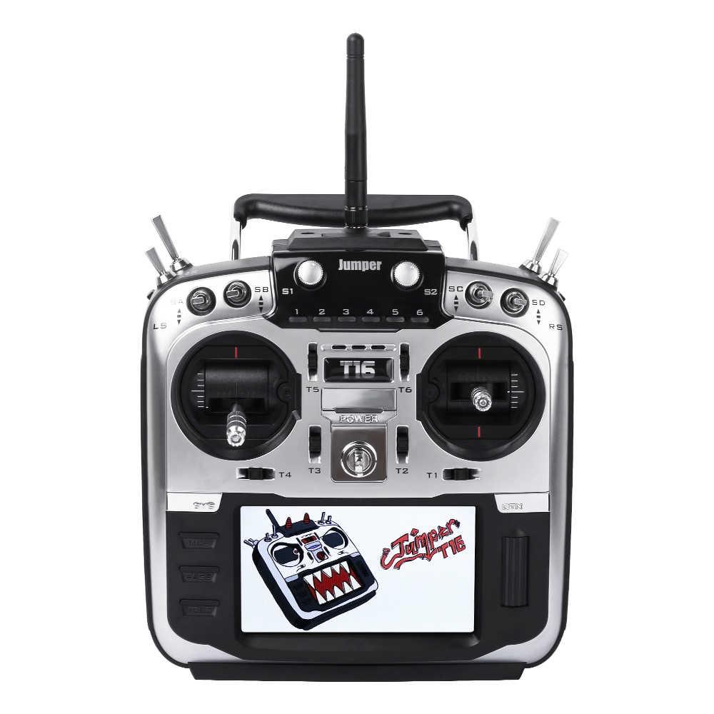 "Jumper t16 pro salão cardan fonte aberta multi-protocolo transmissor de rádio JP4-in-1 módulo rf 2.4g 16ch 4.3 ""lcd"