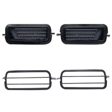 2Pcs Led Daytime Running Light for Lada Niva 4X4 1995  DRL Turn Signal Light Car Headlight with Lamp Covers(China)