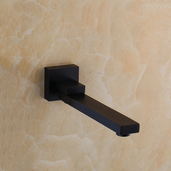 KEMAIDI Wall Mounted Basin Faucet Matte Black Bathroom Mixer Tap Hot Cold Sink Faucet Rotation Spout  Bathtub Shower Faucet 2pcs 8