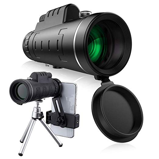 High power40x60HD <font><b>BAK4</b></font> prism Optical Night Vision <font><b>Monoculars</b></font> with tripod compass glasses Telescope zoom not infrared outdoor image