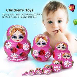 10 шт., детская игрушка-матрешка «клубника»