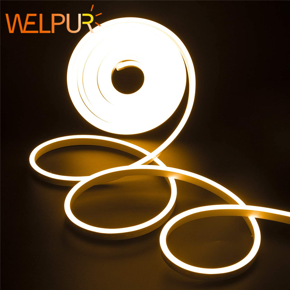 DC 12V Strip LED Light Waterproof SMD 2835  Flexible LED Neon Lights For Home Decoration Warm White 1M 2M 5M Neon Strip Led