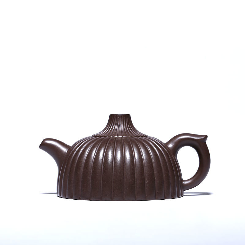 China Yixing Paarse Klei Thee Pot Expert Pure Handgemaakte Theepot Ruwe Erts Oude Paarse Klei Modder Thee Maker Theewaar Rood steengoed - 4