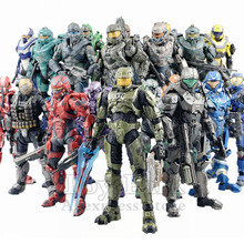 """Original Mcfarlane Toys Halo Series 5"""" Action Figure Chief Spartan Soldier Locke Fred Reach 5 4 3 2 1 Doll Exclusive Collectible"""