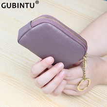 Coin Purse for Women First Layer Cowhide Keychain Purse Bag Square Coin Storage Wallet Portable Real Leather Mini Change Purse(China)