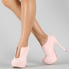 Women's Brand Design Big Size 47 Customized ankle boots Shoes Woman Sexy high Heels Shoes Women party wedding Booties(China)