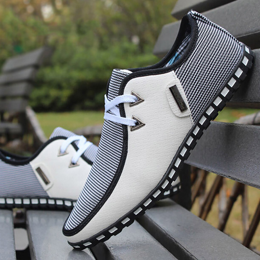 Moda mocassins homens apartamentos respirável sapatos casuais deslizamento em tênis masculino sapatos mocassins tenis masculino adulto mais tamanho 47