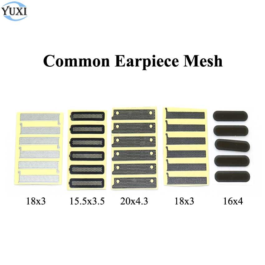 YuXi 10pcs 16*4mm 18*3mm Adhesive Ear Speaker Earpiece Anti Dust Screen Mesh For Huawei OPPO Xiaomi Replacement Phone Ear Mesh