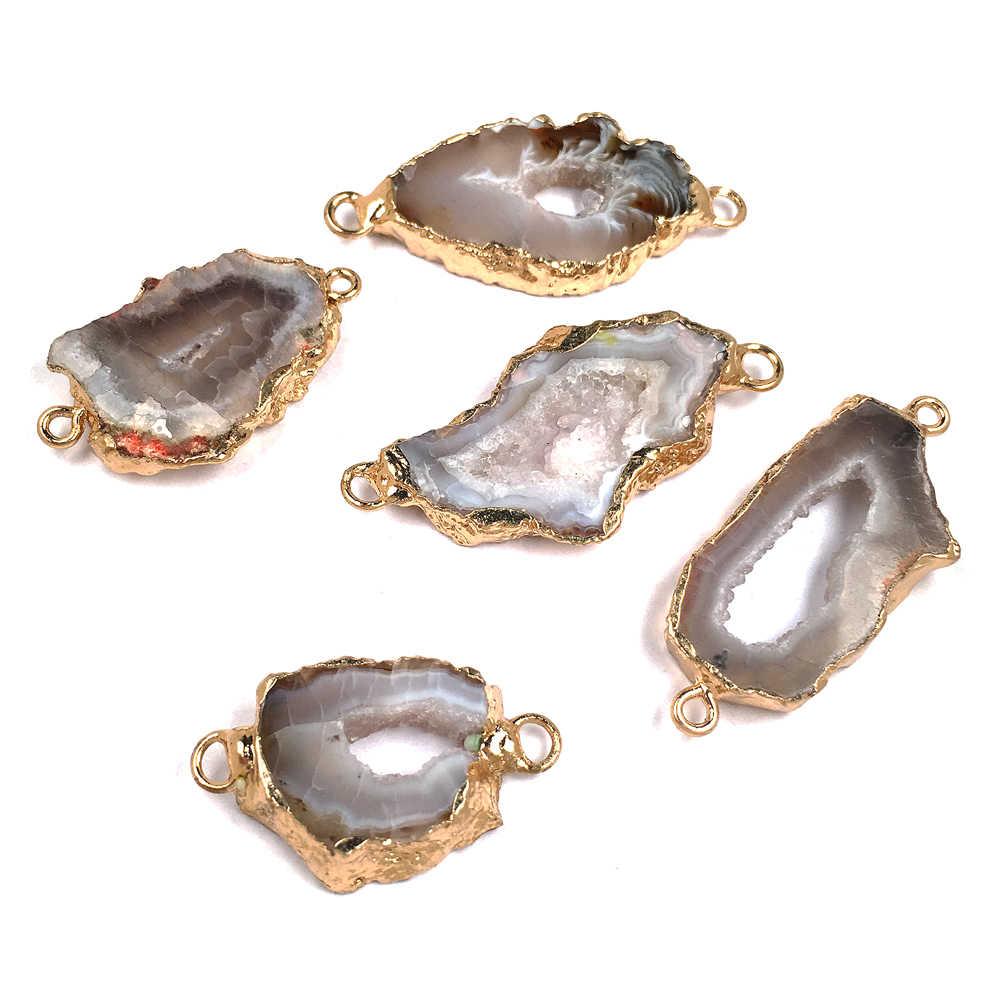 Новая мода 1 шт. кристалл кулон разъемы для изготовления ювелирных изделий поставки оптом капли воды натуральные драгоценные камни ожерелье подвески