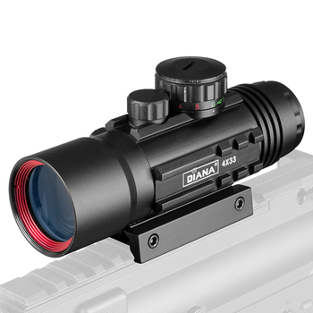 4X33 Green Red Dot Sight Scope Tactical Optics Riflescope Fit 11/20mm Rail Rifle Scopes for Hunting 6