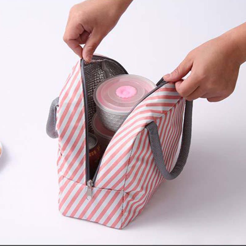 Image 3 - New Japanese Fresh Student with Meal Insert Bag Section  Insulation Lunch Bag Japanese style Portable Insulation Lunch BagBags