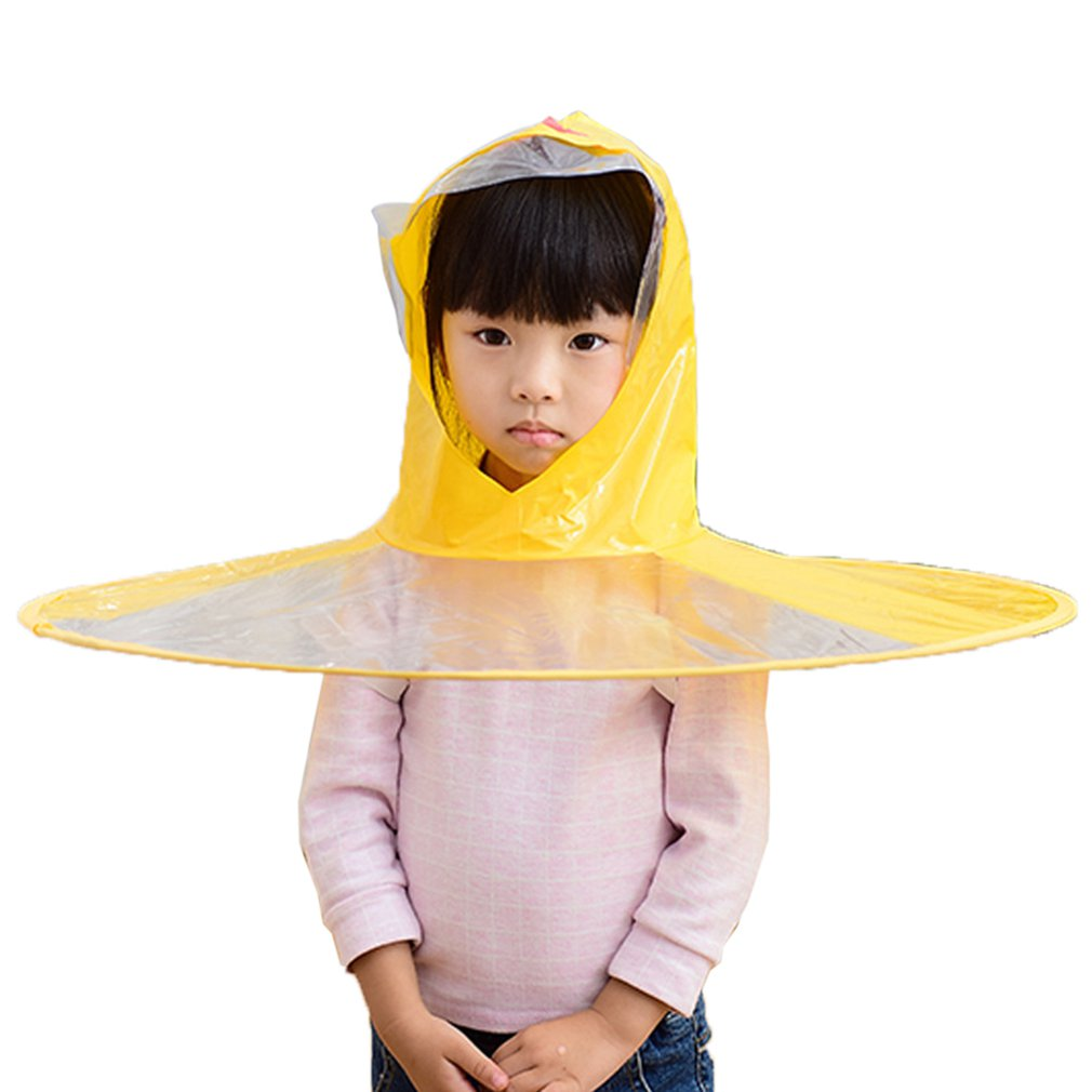 Duck Raincoat Umbrella Toddler Kids Waterproof Cute Rain Hat Outdoor Headwear