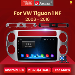 Junsun V1 Android 10.0 AI Voice Control Car Radio Multimedia For Volkswagen Tiguan 1 NF 2006 2008 2010 2012-2016 Navigation GPS