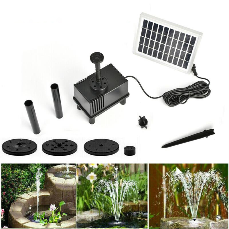 1.8W Solar Fountain Watering Kit Power Solar Pump Pool Pond Submersible Waterfall Floating Solar Panel Water Fountain For Garden