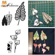 Kokorosa Flower Branch Lily Metal Cutting Dies Leaf for Craft Scrapbooking Album Embossing New 2019 Arrival
