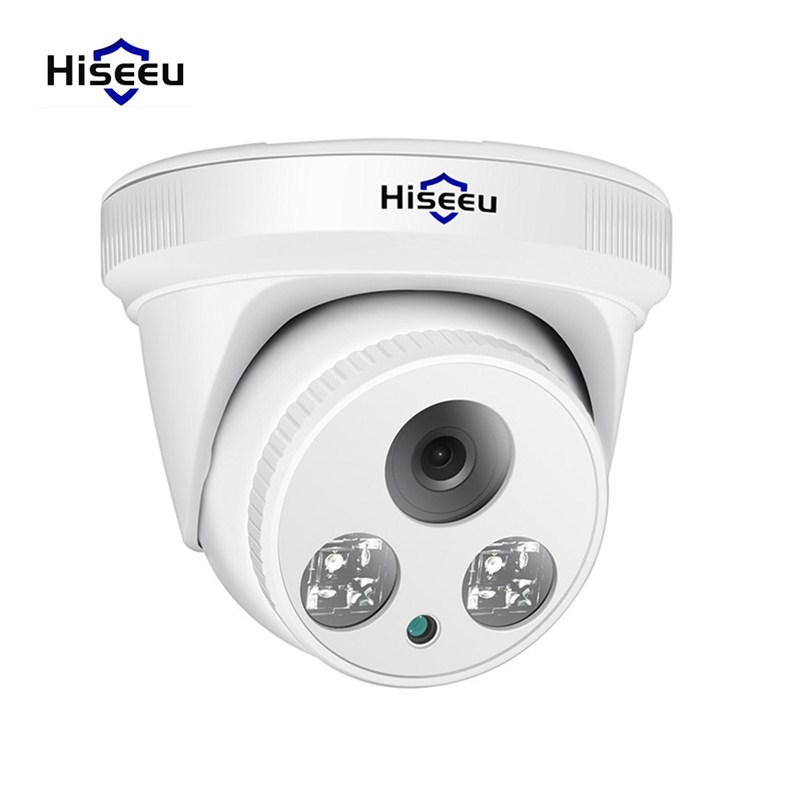 Hiseeu HC615 5MP POE IP Camera 1080P Motion Detection Night Vision H.265 Hemisphere 3.6mm Lens Network Camera