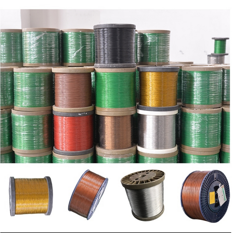 HQ CW01 5Colors Tiny 0.38-1MM PVC Plastic Coated Stainless Steel 304 Wire Rope Cable Flexible Fishin