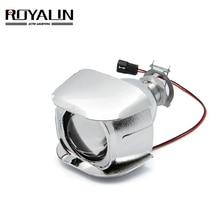 ROYALIN 1 шт. галогенные линзы H1 2,0 дюймов биксеноновый проектор головной светильник объектив LHD мини стеклянный объектив для H1 H4 H7 мотоциклетные лампы DIY