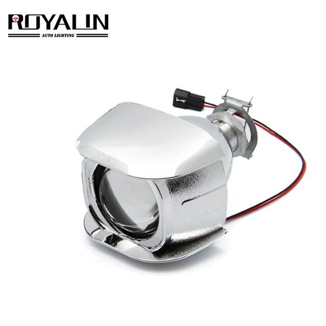 ROYALIN 1PCS הלוגן עדשה H1 2.0 אינץ Bi קסנון מקרן ראש אור עדשת LHD מיני זכוכית עדשה עבור H1 h4 H7 אופנוע מנורות DIY