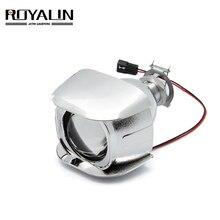 ROYALIN 1PCS Halogen Objektiv H1 2,0 inch Bi Xenon Projektor Kopf Licht Objektiv LHD Mini Glas Objektiv für H1 h4 H7 Motorrad Lampen DIY