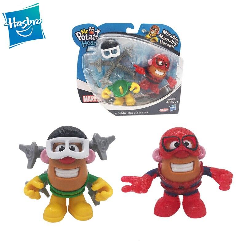 Hasbro Marvel Q Versi Spider Man Dokter Octopus Merakit Buatan Tangan Boneka Mr Potato Head Pahlawan Mainan Untuk Anak Anak 10 Cm Aksi Toy Angka Aliexpress