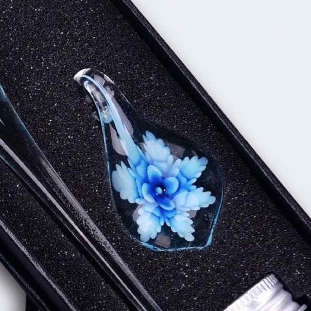 Epoca Fatti a Mano di Arte Elegante Floreale di Cristallo di Vetro Dip Penna Segno di Inchiostro Penne Regalo