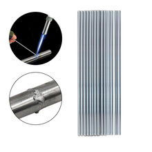 O fluxo de alumínio da haste fácil do derretimento das hastes de soldadura 2mm corou os elétrodos da soldadura do fio da solda para a baixa temperatura de solda de alumínio