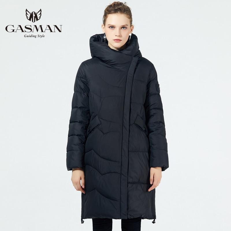 GASMAN 2019 Пуховик мод женская зимняя куртка Длинная большой размер модное пальто теплая парка с капюшоном Высокого качества Женская зимняя ве... - 2