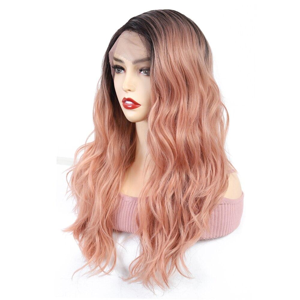 perucas onduladas glueless do laço com fibra