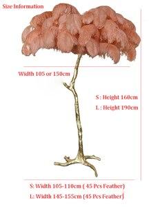 Image 5 - The Ostrich Feather Lamp Light Modern Copper Floor Light Living Room  Hotel Floor Lighting