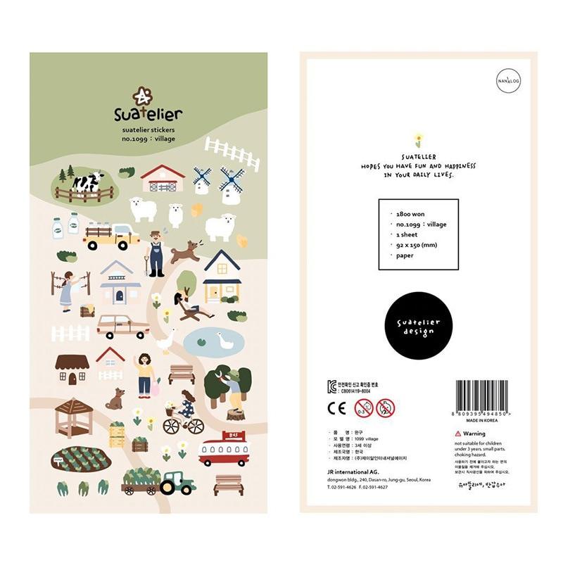 Village Farm Sonia Journal Cartoon Decorative Stationery Stickers Scrapbooking DIY Diary Album Stick Label