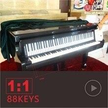Teclado de piano de 88 teclas suave portátil midi digital controller synthesizer roll up piano principiantes instrumentos musicales electrónicos